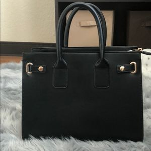 Structured Black Handbag